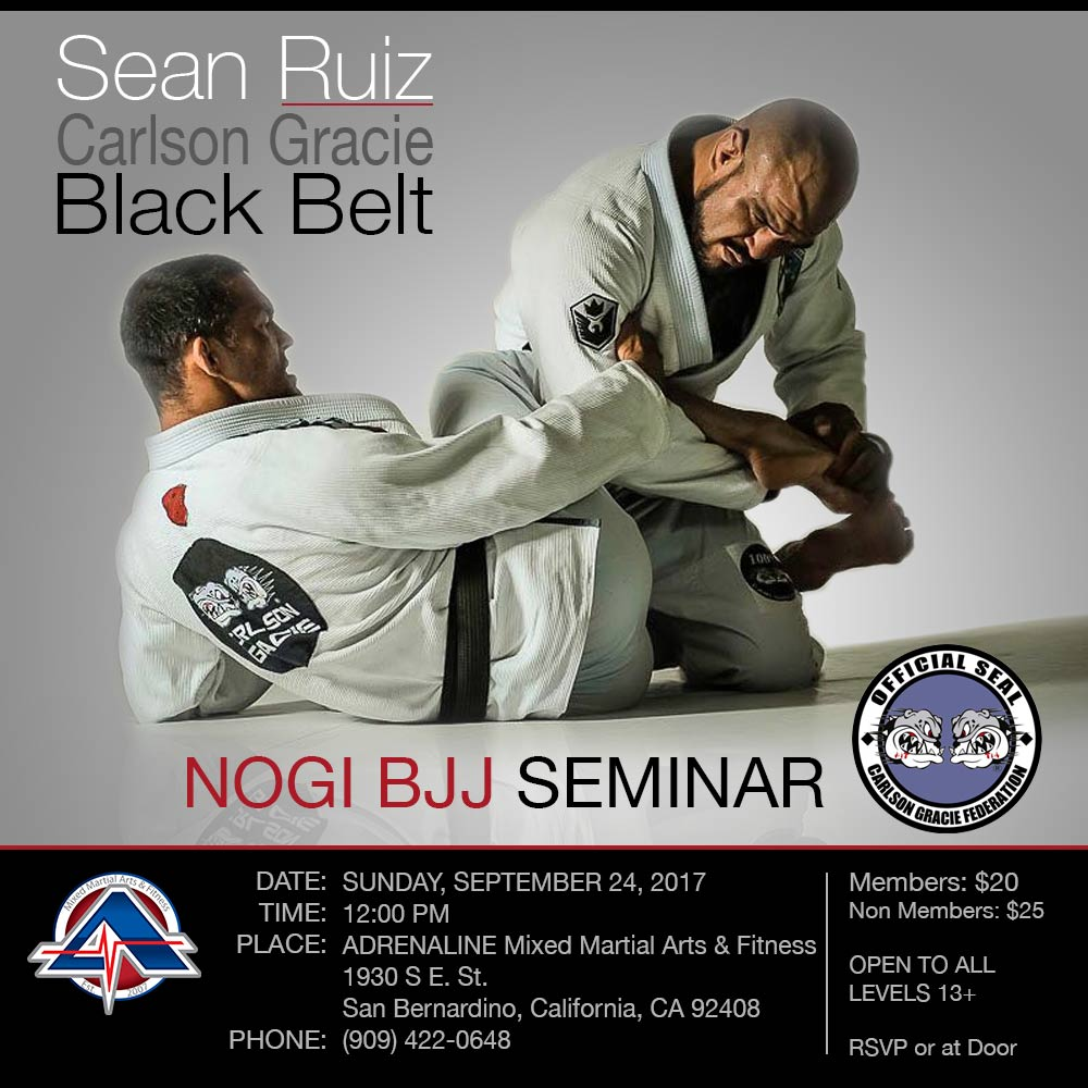 Sean Ruiz NOGI BJJ Seminar - September 24, 2017