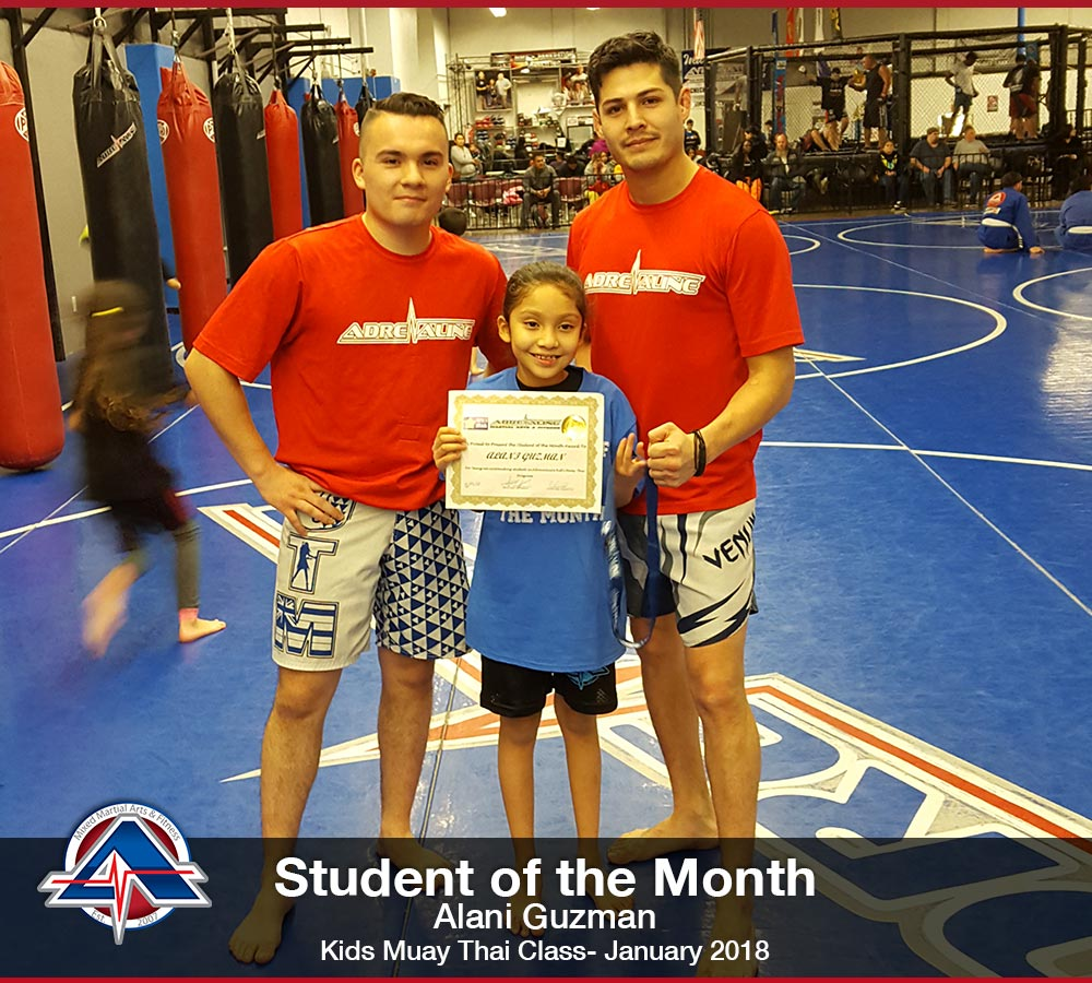 Kids Muay Thai - Alani Guzman - January 2018