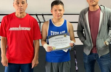 Teen's Boxing Student of the Month Patrick Martinez